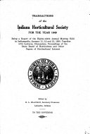 Transactions of the Indiana Horticultural Society for the Year