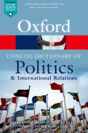 The Concise Oxford Dictionary of Politics and International Relations Pdf/ePub eBook