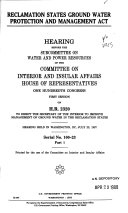 Reclamation States Ground Water Protection and Management Act  Hearing held in Washington  DC  July 23  1987