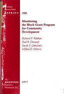 Monitoring the Block Grant Program for Community Development