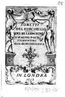 Sonetti del Burchiello, del Bellincioni e d'altri poeti fiorentini alla burchiellesca ebook