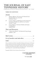 The Journal of East Tennessee History
