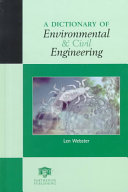 A Dictionary of Environmental and Civil Engineering