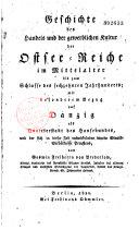 Geschichte des handels und der gewerblichen kultur der Ostsee-reiche im mittelalter bis zum schlusse des sechzehnten jahrhunderts