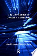 The Globalization of Corporate Governance Book