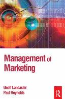 Management of Marketing Pdf/ePub eBook