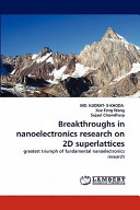 Breakthroughs in Nanoelectronics Research on 2d Superlattices