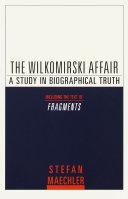 Pdf The Wilkomirski Affair
