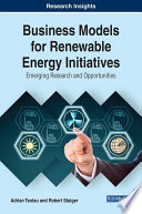 Business Models For Renewable Energy Initiatives Emerging Research And Opportunities Book PDF
