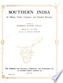 Southern India Its History People Commerce And Industrial Resources