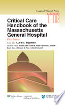 Critical Care Handbook Of The Massachussetts General Hospital Book PDF