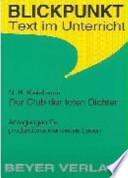 N. H. Kleinbaum, Der Club der toten Dichter (Dead poets society)