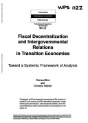 Fiscal Decentralization and Intergovernmental Relations in Transition Economies