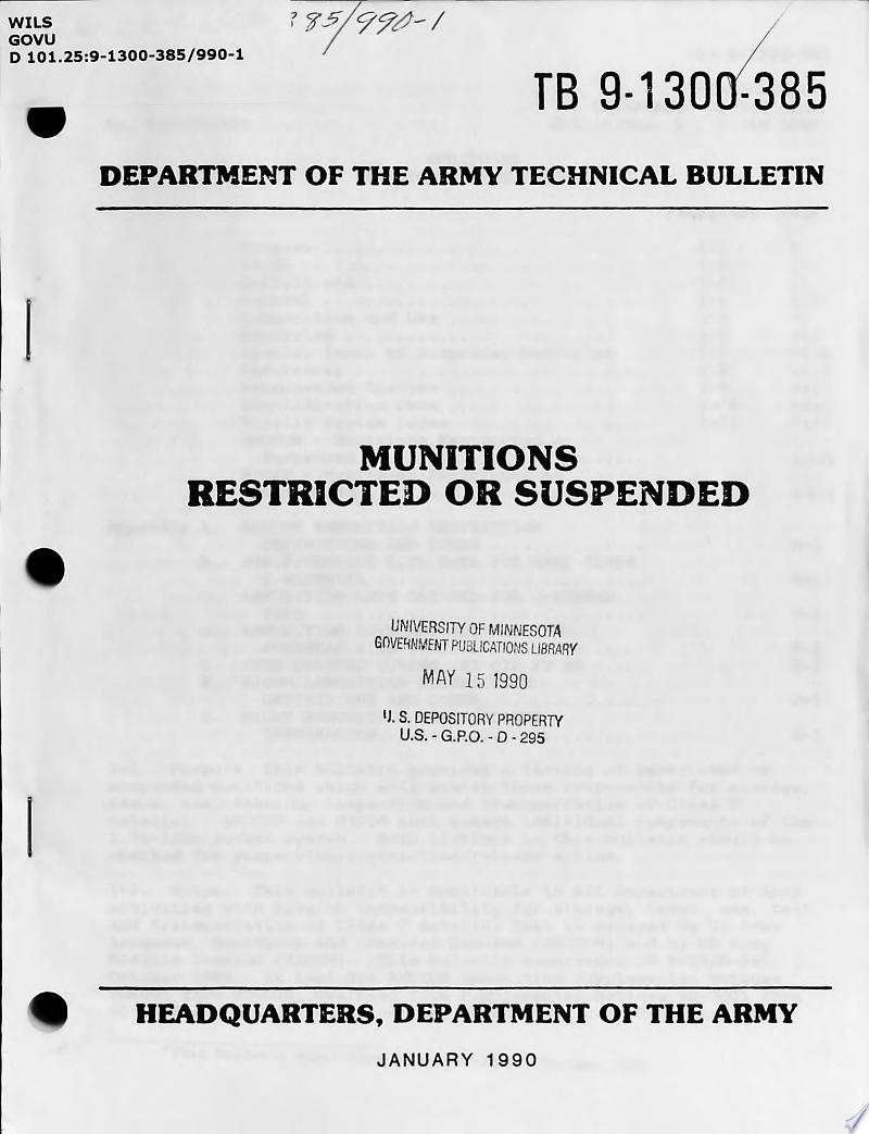 Munitions Restricted Or Suspended banner backdrop