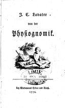 J. C. Lavater von der Phisiognomik