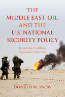 The Middle East, Oil, and the U.S. National Security Policy Pdf/ePub eBook