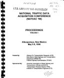 National Traffic Data Acquisition Conference  NATDAC  96  Book