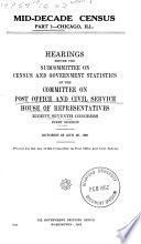 Mid decade Census  Hearings     87 1 2 Book