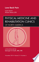 Low Back Pain, An Issue of Physical Medicine and Rehabilitation Clinics