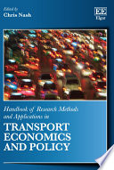 Handbook Of Research Methods And Applications In Transport Economics And Policy Book PDF