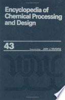 Encyclopedia of Chemical Processing and Design Book