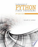 Cover of Fundamentals of Python: First Programs