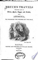 Bruce S Travels Through Part Of Africa Syria Egypt And Arabia Book PDF