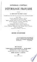 Dictionnaire synoptique d'étymologie française