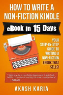 How to Write a Non Fiction Kindle EBook in 15 Days