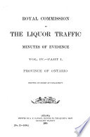 Report of the Royal Commission on the Liquor Traffic in Canada