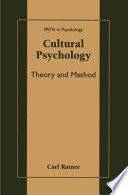 Cultural Psychology Book
