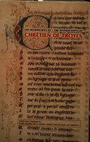 Pdf Les Manuscrits de Chrétien de Troyes Telecharger