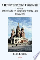 A History of Russian Christianity Vol  II