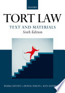 """""""Tort Law: Text and Materials"""" by Ken Oliphant, Donal Nolan"""