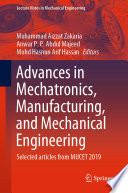 Advances In Mechatronics Manufacturing And Mechanical Engineering Book PDF