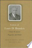 Letters of Louis D  Brandeis  Volume III  1913 1915 Book PDF