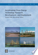 Accelerating Clean Energy Technology Research Development And Deployment Book PDF