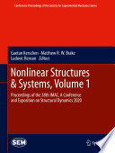 Nonlinear Structures   Systems  Volume 1 Book