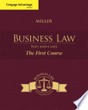 Cengage Advantage Books  Business Law  Text and Cases   The First Course