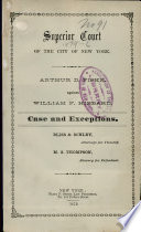 Superior Court of the City of New York Book