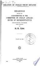 Creation of Indian Trust Estates Book PDF