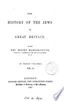 The History of the Jews in Great Britain