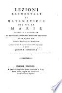 Lezioni elementari di matematiche