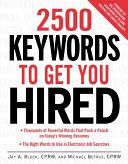 2500 Keywords to Get You Hired Pdf/ePub eBook