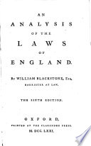 An Analysis Of The Laws Of England