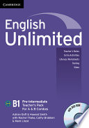 English Unlimited Pre-intermediate A and B Teacher's Pack (Teacher's Book with DVD-ROM)