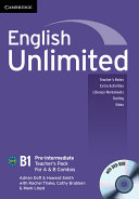 English Unlimited Pre intermediate A and B Teacher s Pack  Teacher s Book with DVD ROM