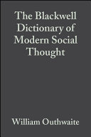 Cover of The Blackwell Dictionary of Modern Social Thought