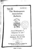 The Shakespeare Association Bulletin