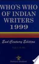 Who's who of Indian Writers, 1999: A-M